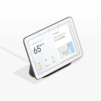 Google Home Hub Chalk Smart Home Assistant Hands-Free Voice Match Dashboard