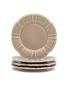 Chloe 4 Piece Taupe Salad Plate Set