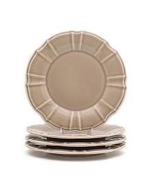 Euro Ceramica Chloe 4 Piece Taupe Salad Plate Set