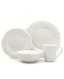 EuroCeramica Chloe 16 Piece White Dinnerware Set