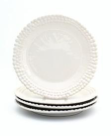 Euro Ceramica Sarar 4 Piece White Salad Plate Set