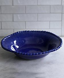 EuroCeramica Sarar Cobalt Serving Bowl