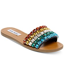 Steve Madden Serenade Rainbow Jeweled Slides