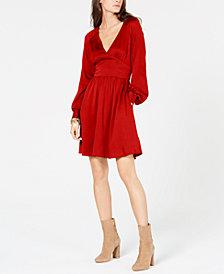 MICHAEL Michael Kors Petite V-Neck Fit & Flare Dress