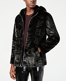 I.N.C. Men's Carti Printed Faux-Fur Coat, Created for Macy's