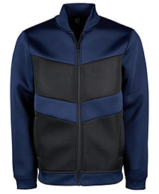 ID Ideology Men's Colorblocked Mesh Fleece Bomber Jacket, Created for Macy's