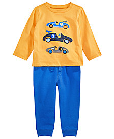First Impressions Baby Boys Hello Racer Top & Jogger Pants Separates, Created for Macy's