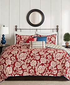 Lucy 6-Pc. King/California King Cotton Twill Reversible Coverlet Set