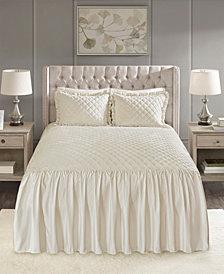Madison Park Roxanne 3-Pc. King Faux Velvet Bedspread Set