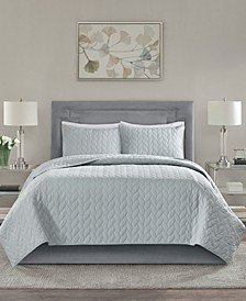 Noel Quilted 3-Piece Full/Queen Coverlet Set