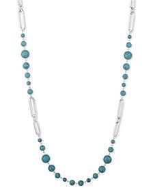 """Lauren Ralph Lauren Link & Bead 42"""" Strand Necklace"""