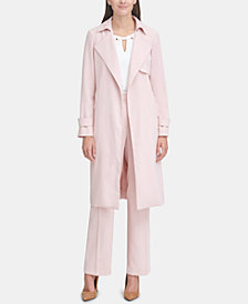 Tommy Hilfiger Crepe Suiting Trench