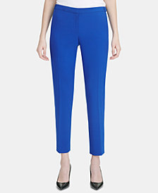 Calvin Klein Straight-Leg Ankle Pants