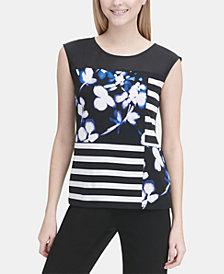 Calvin Klein Mixed-Print Tank Top