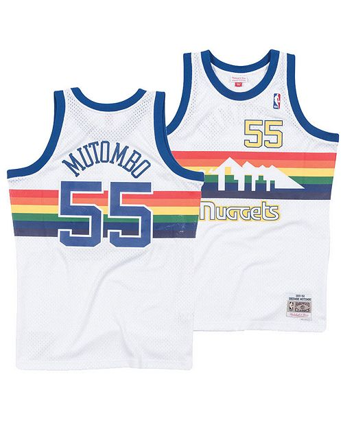 newest a2601 fe480 old school denver nuggets jersey