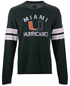 '47 Brand Men's Miami Hurricanes Long Sleeve Scramble T-Shirt