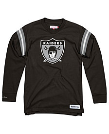 Mitchell & Ness Men's Oakland Raiders Team Captain V-Neck Long Sleeve T-Shirt