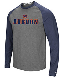Colosseum Men's Auburn Tigers Social Skills Long Sleeve Raglan Top