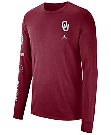 Nike Men's Oklahoma Sooners Long Sleeve Basketball T-Shirt