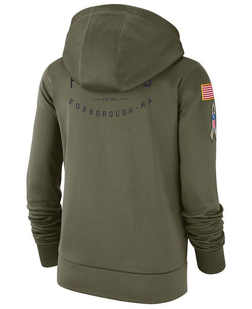 8b23c9192 Nike Women s New England Patriots Salute To Service Therma Hoodie ...