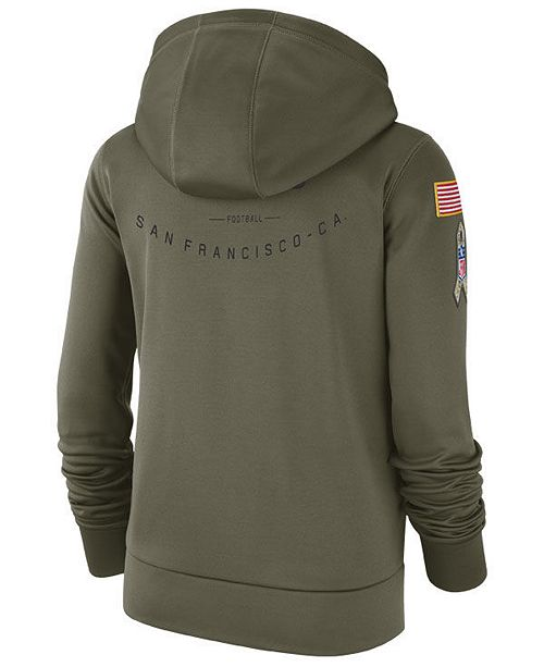 2d2c8afe4d2 Nike Women s San Francisco 49ers Salute To Service Therma Hoodie ...