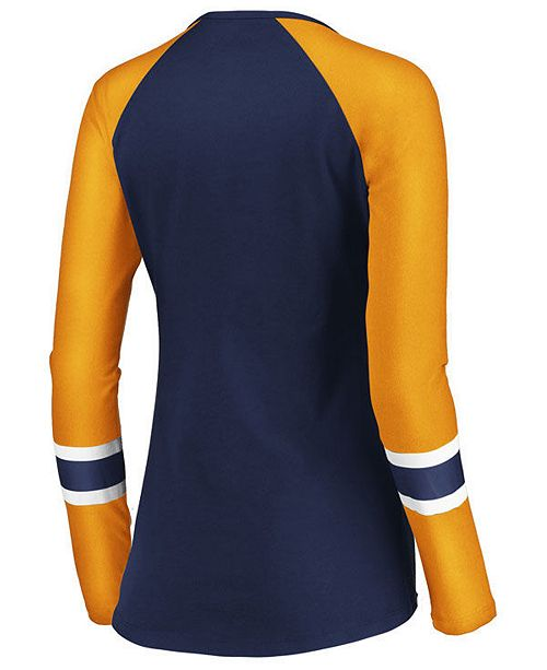 Majestic Women s Buffalo Sabres Lace Up Long Sleeve T-Shirt - Sports ... e6c895cce