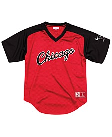 Men's Chicago Bulls Final Seconds Mesh V-Neck Jersey