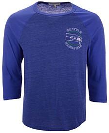 Men's Seattle Seahawks End Around Three-Quarter Raglan T-Shirt