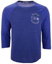 7733f0fc2 Authentic NFL Apparel Men s Seattle Seahawks End Around Three-Quarter  Raglan T-Shirt
