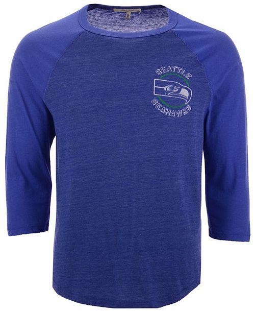 best website 8ae62 fb45f Men's Seattle Seahawks End Around Three-Quarter Raglan T-Shirt