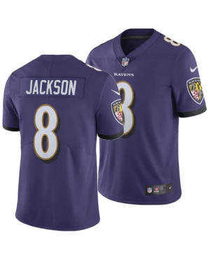 Men's Lamar Jackson Baltimore Ravens Limited Jersey In New Orchid,black