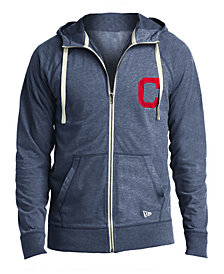New Era Men's Cleveland Indians Sueded Full-Zip Hoodie