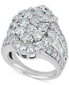 Diamond Marquise Cluster Ring (5 ct. t.w.) in 14k White Gold
