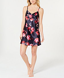 Thalia Sodi Lace-Trimmed Printed Chemise, Created for Macy's