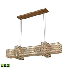 Lexicon 5 Light Chandelier in Matte Gold with Clear Crystal