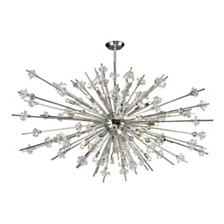 Starburst Collection 31 light chandelier in Polished Chrome