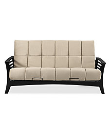 "Simmons Chicago Wedge Futon Frame with 8"" Beauty rest Panel Quilted Pocketed Coil Innerspring Mattress"
