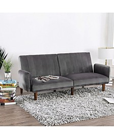 Reavis Vertically Tufted Flannelette Futon Sofa
