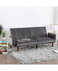 Reavis Vertically Tufted Flannelette Futon Sofa