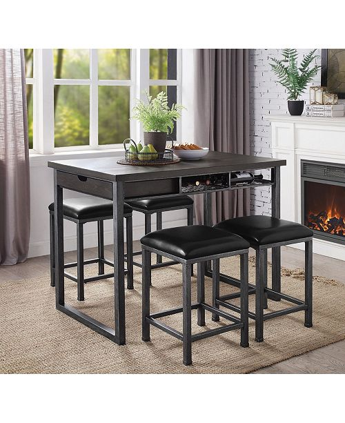 Furniture of America Forsberg Counter Height Storage Table