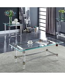 Jourdan Glass Top Coffee Table