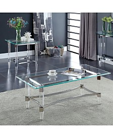 Jourdan Clear Acrylic and glass Coffee Table