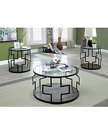 Coullier 3-Piece Glass Table Set