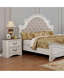 Mayves Moulded Trim 2-Drawer Nightstand