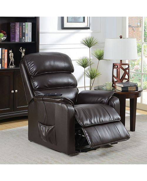 Furniture of America Shuler Transitional Power Reclining Chair