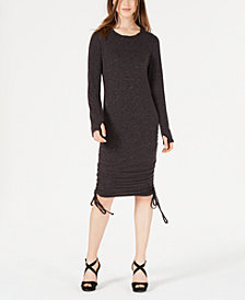 Material Girl Juniors' Lace-Up Midi Bodycon Dress, Created for Macy's