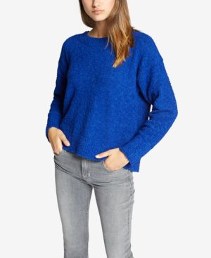 SANCTUARY Teddy Textured Knit Sweater in Electric Blue
