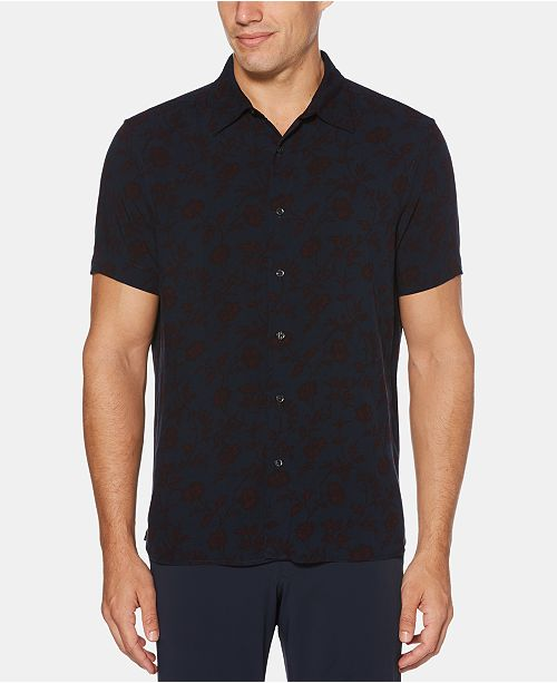 Perry Ellis Men's Floral Print Shirt