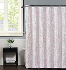 Christian Siriano Pretty Petals Pink  Shower Curtain