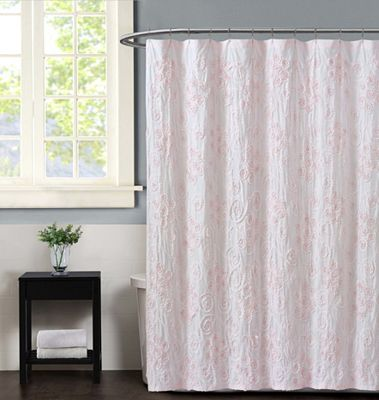 Christian Siriano Pretty Petals Pink Shower Curtain Shower